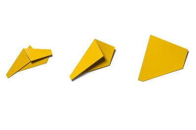 Sébastien de Ganay, 'Yellow Folded Flat Sequence 03 A-C', 2019