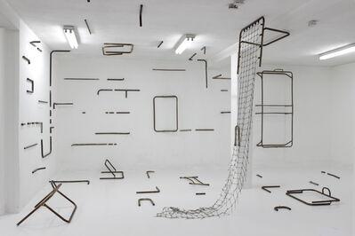 Esvin Alarcón Lam, 'Instalación con catres', 2014