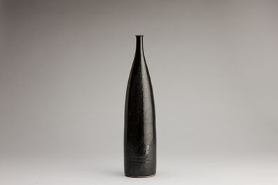 Brother Thomas Bezanson, 'Tall narrow vase: oil spot glaze', n/a