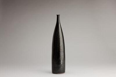 Brother Thomas Bezanson, 'Tall narrow vase: oil spot glaze', n/a
