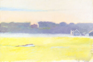Wolf Kahn, 'SEEN AT MENEMSHA HARBOR', 1972