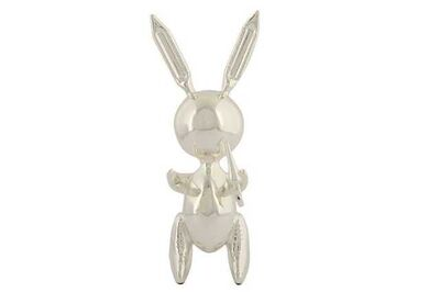 After Jeff Koons, 'Silver rabbit'