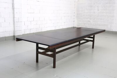Carlo Scarpa, 'Carlo Scarpa Large Table MidCentury, Gritti series in Leather and Wood, 1970s', 1970