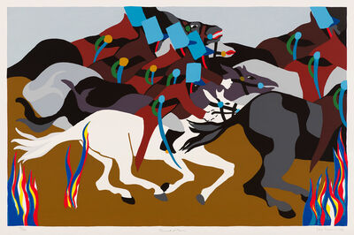 Jacob Lawrence, 'Toussaint at Ennery', 1989