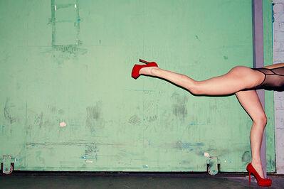 Tyler Shields, 'Running in Red', 2015