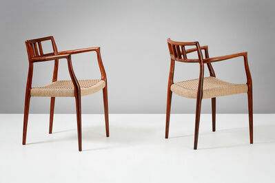 Niels Otto Møller, 'Pair of Model 64 Armchairs', 1966