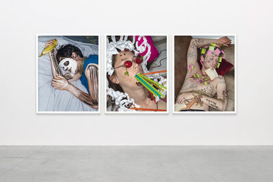Christian Jankowski, 'We are innocent when we sleep (triptych 2)'