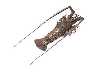 Tomiki Muneyoshi, 'Silver Spiny Lobster Jizai Okimono  18 0553', ca. 1940~
