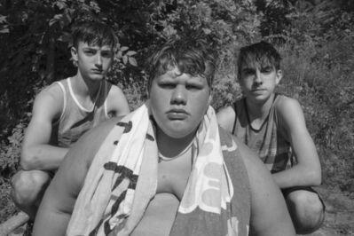 Caleb Stein, 'Three Boys. The Watering Hole. Poughkeepsie, NY', 2018