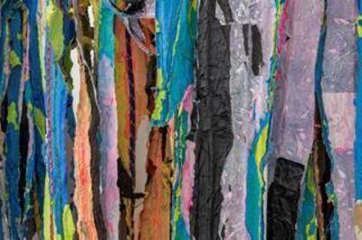 Mark Bradford, 'Waterfall (detail)', 2015