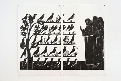 Andrea Büttner, 'Vogelpredigt (sermon to the birds)', 2010