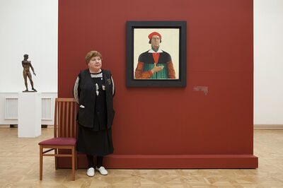 Andy Freeberg, 'Malevich's Self-Portrait, Russian State Museum', 2009
