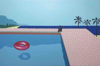 Natan Elkanovich, 'Blue gulf - landscape painting', 2020