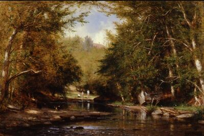 Worthington Whittredge, 'The Brook—Catskills (The Bathers)', ca. 1885