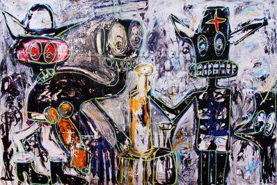 Aboudia, 'Ivory Cowboy', 2015