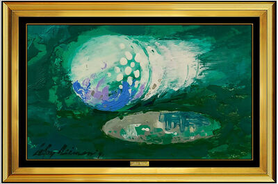 LeRoy Neiman, 'LeRoy Neiman Original Big Time Golf Painting Oil on Board Signed Sports Artwork', 1991