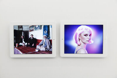 Massimo Grimaldi, ''Kabul Bomb' and 'Natalie Portman' Google Image Search Results Shown on Two Apple iPads', 2013