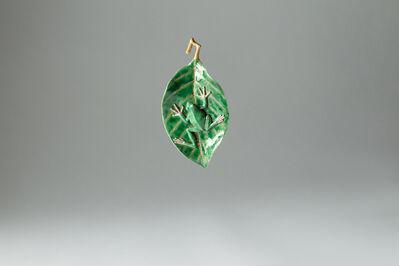 Kensuke Fujiyoshi, '34. Frog on Leaf (hanging)', 2019