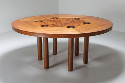 Marzio Cecchi, 'Marzio Cecchi One of a Kind Round Dining Table in Oak and Burl, 1990s', 1990s