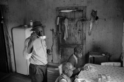 Constantine Manos, 'Untitled, Sharecroppers, South Carolina (interior, man drink from a ladle 2 children)', 1965