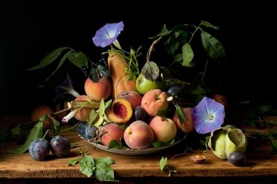 Paulette Tavormina, 'Peaches and Morning Glories', 2010