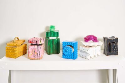 Ellie Richards, 'BS Box Party 1-6 [Left to Right: Gold Member; Little Pony Drop; Brutalist Poof; Channellock Blue; Magic Erasure; X-Factor]', 2018
