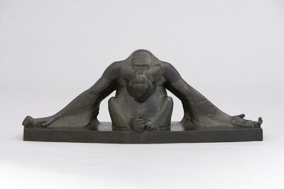 Georges-Lucien Guyot, 'A Seated Orangutan with Outstretched Arms', ca. 1930