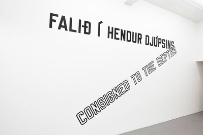 Lawrence Weiner, 'Consigned to the Depths', 2014