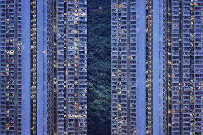 Romain Jacquet-Lagrèze, ''The Blue Moment #20' Hong Kong', 2016