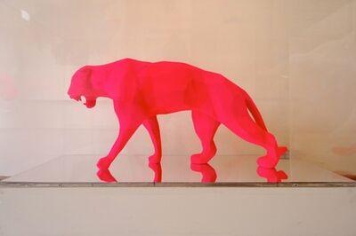 Richard Orlinski, 'Wild panther pigment - pink'