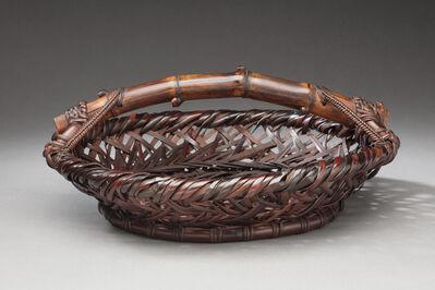 Ueda Shounsai, 'Hobi Bamboo Tray Style Flower Basket', 1940