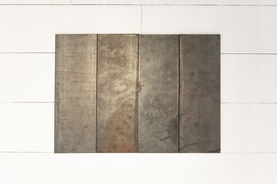 Carl Andre, '4 part small steel rectangle', 2003