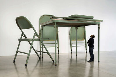 Robert Therrien, 'No title (folding table and chairs, green)', 2008