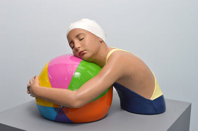 Carole A. Feuerman, 'Miniature Brooke with Beach Ball', 2018