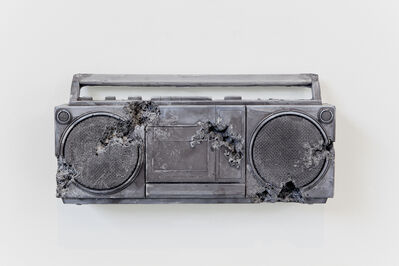 Daniel Arsham, 'Obsidian Eroded Radio', 2013