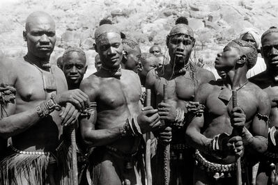 George Rodger, 'Kao-Nyaro bracelet fighters', 1949