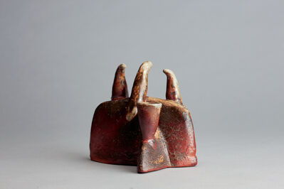 Randy Johnston, 'Three bird candle form, kaolin glaze with red slip and natural ash', n/a