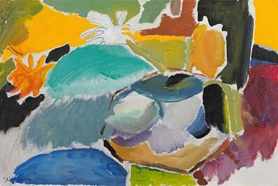 Ivon Hitchens, 'White Star Dahlia, yellow and green', 1957