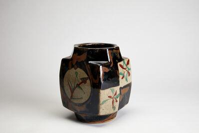 Shōji Hamada, 'Square vase, persimmon glaze', n/a