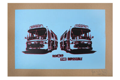 Jamie Reid, 'Nowhere Bus (Blue)'