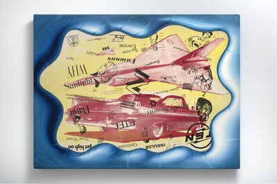 Kenny Scharf, 'Cars and Jets #2', 1992