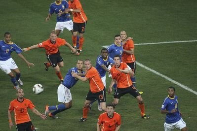 Mark Leech, 'World Cup, Netherlands vs. Brazil July 2', 2010