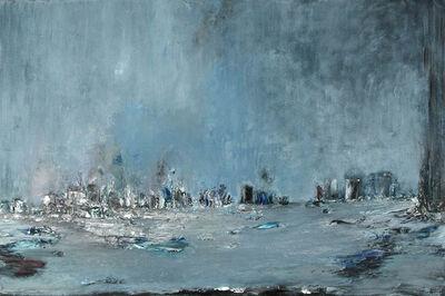 Anne Hefer, 'Blaue Fahne', 1996