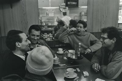 John Cohen, 'Gregory Corso, Larry Rivers, Jack Kerouac, David Amram, and Allen Ginsberg at a diner - Pull My Daisy', 1959