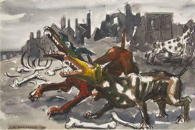 Jack Shadbolt, 'Sketch for Dogs of War', 1947