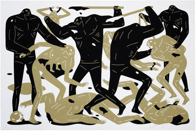 Cleon Peterson, 'Between Man And God (White)', 2018