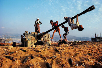 Steve McCurry, 'Children playing, near Beirut, Lebanon', 1982
