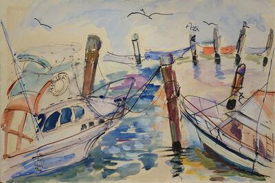 Romare Bearden, 'Sailboats at Port'