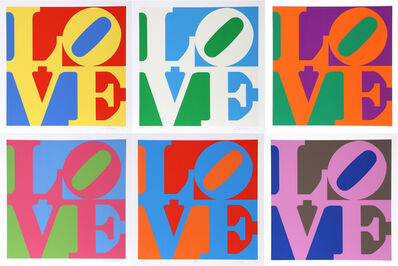 Robert Indiana, 'The Garden of Love (Suite of Six)', 1982