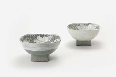 Huh Sangwook, 'Buncheong Bowls with Peony Design'